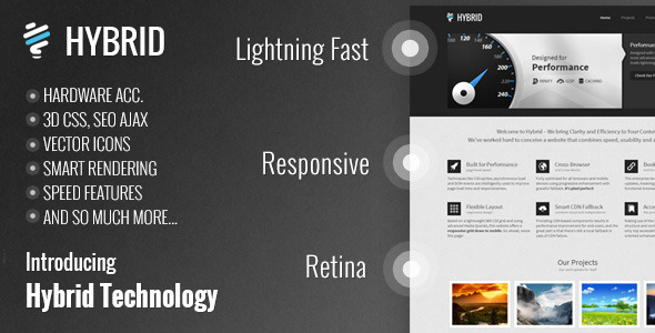 Hybrid Responsive Retina One-Page WordPress Theme