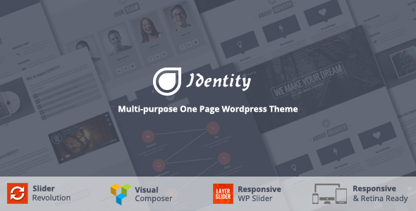 Identity - Multi-Purpose One Page WordPress Theme