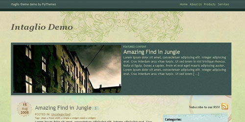 Intaglio Theme - Free WordPress Themes