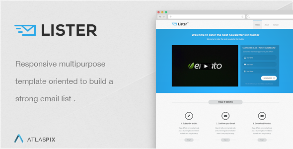 Lister - Premium Landing Page