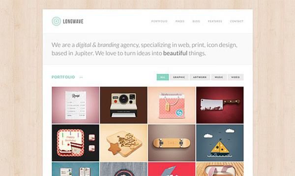 Longwave – Homepage Portfolio Template