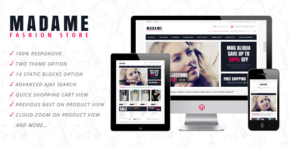 Madame - Responsive Fashion Store Magento Theme