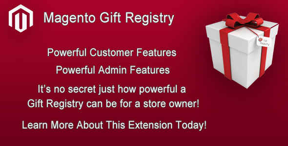 Magento Gift Registry Extension