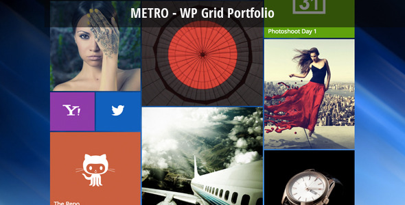 Metro - WordPress Grid Portfolio