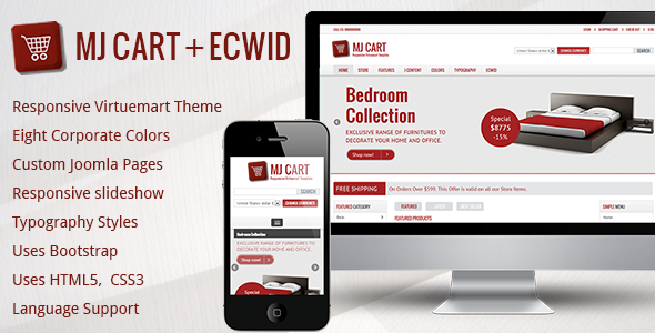 Mj Cart - Responsive Virtuemart Template