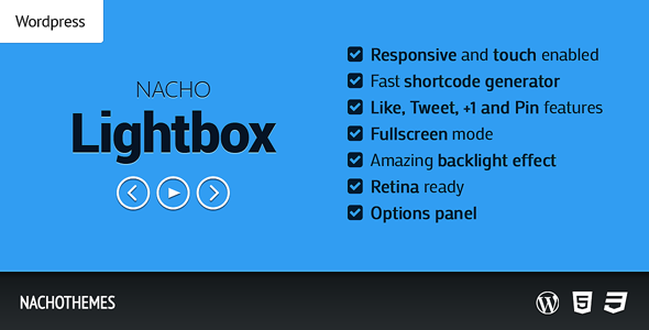 NACHO Lightbox for WordPress