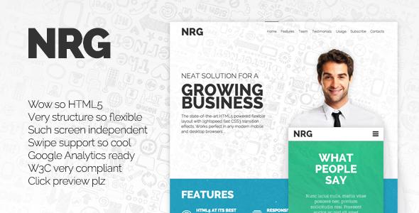 NRG - Responsive Landing Page
