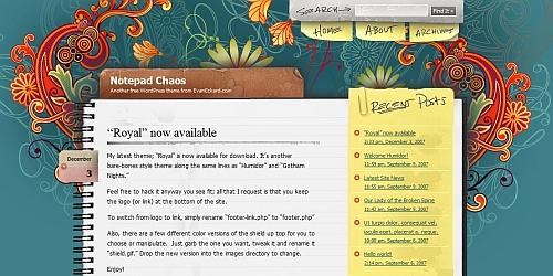 Notepad Chaos - WordPress Blog Themes