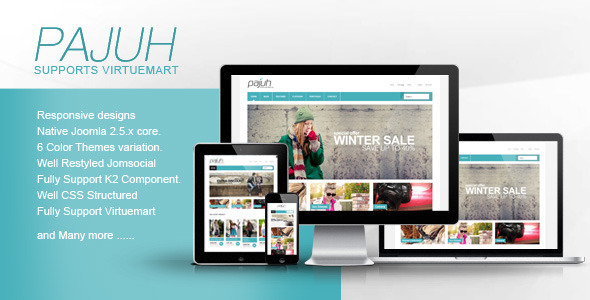 Pajuh - Clean and Responsive Virtuemart Templates