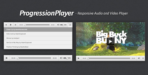 ProgressionPlayer - Responsive Audio-Video Player