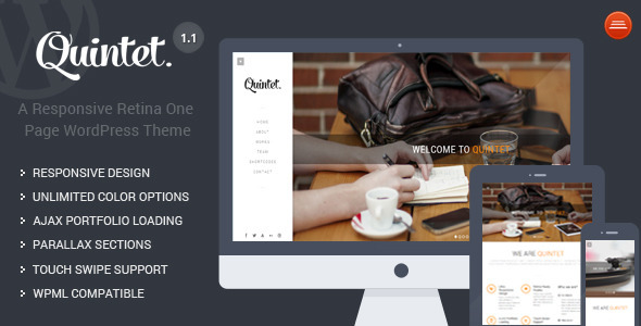 Quintet - Responsive One Page Parallax Theme