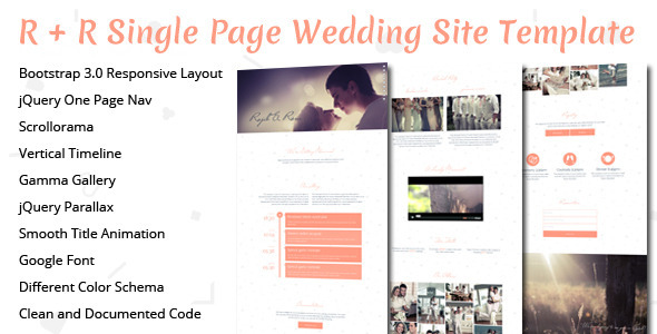 R-R Wedding Landing Page Template