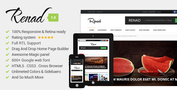 Renad - Clean & Modern WordPress Magazine Theme