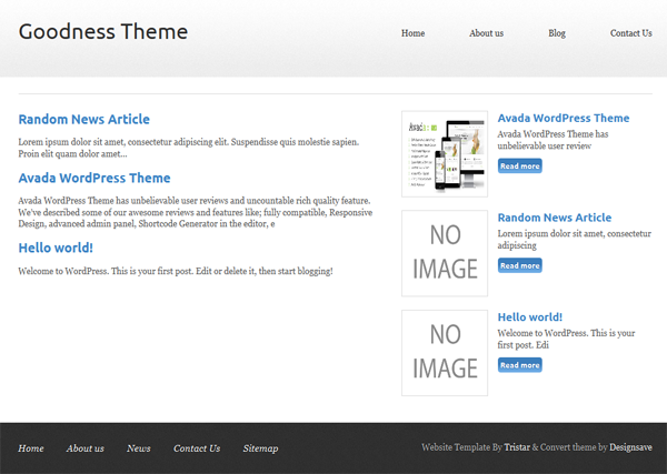 Responsive Goodness Theme