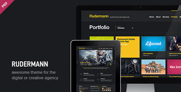 Rudermann - Agency - Business PSD Template