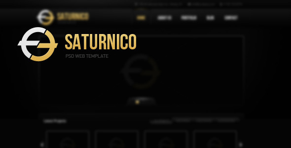 Saturnico PSD Web Theme