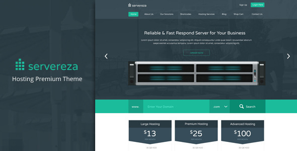 Servereza - Hosting Business Premium PSD Theme