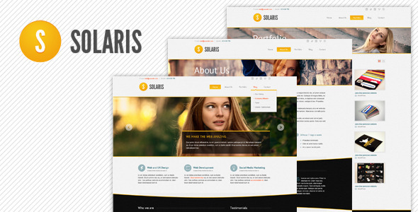 Solaris PSD Web Theme