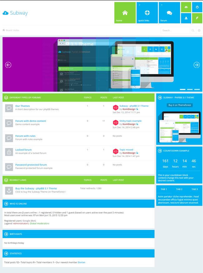 Subway-Flat-Metro-phpBB-3.1-Theme