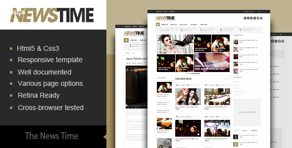 The News Time- Magazine WordPress Theme