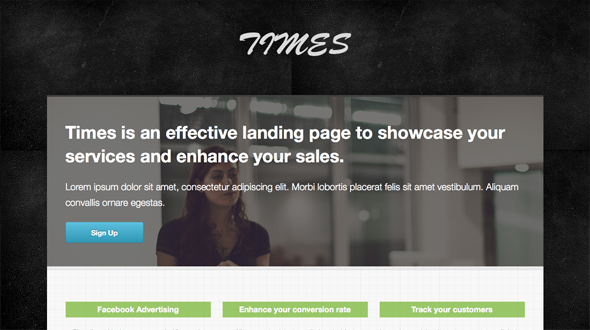 Times Landing Page