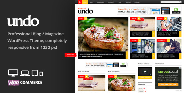 Undo - Premium WordPress News - Magazine Theme
