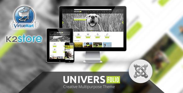 Universfolio - Multipurpose Joomla Template