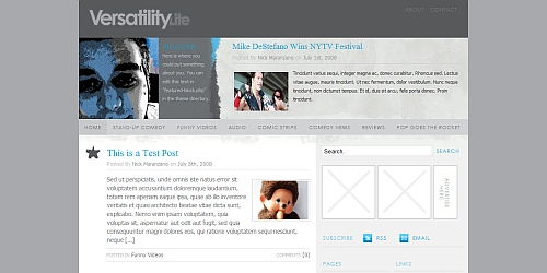 Versatility Lite - WordPress Blog Themes