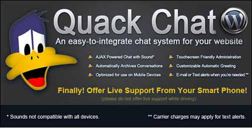 WP – Quack Chat Live Chat System