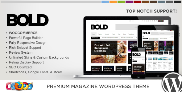 WP Bold WordPress Magazine & Review Theme
