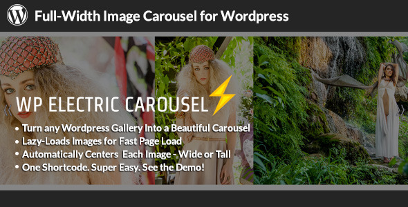 WP Electric Carousel - Full Width Lazy Load Slider