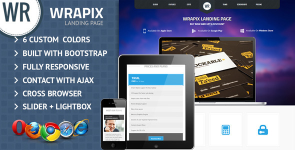 Wrapix App Showcase Landing Page