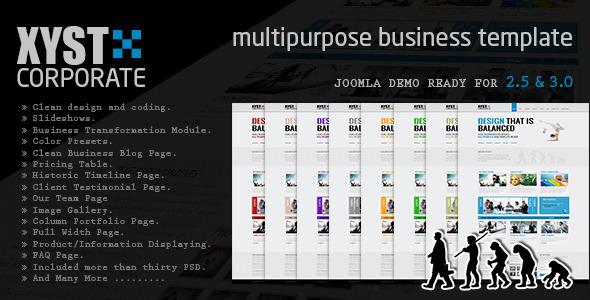 Xyst-Corporate Responsive Joomla Template