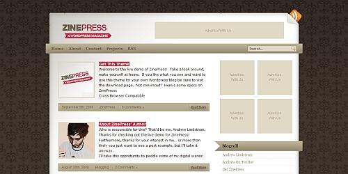 ZinePress-A WordPress Magazine Theme