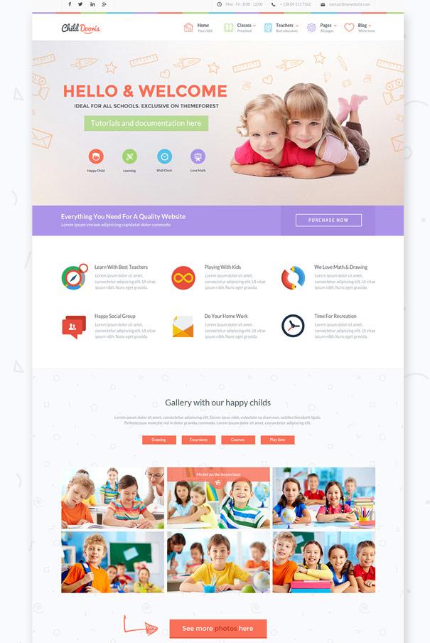 child-dooris-kindergarten-school-wordpress-theme