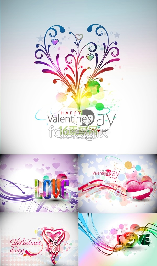 colorful-valentines-day-poster-vector