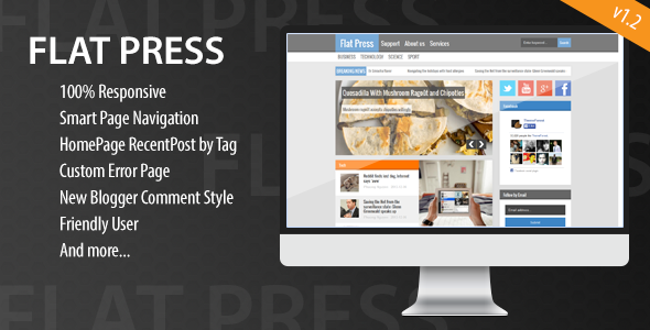 flat-press-responsive-blogger-template