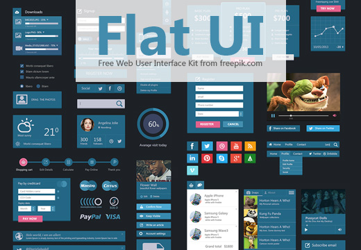 free-deal-flat-user-interface-set