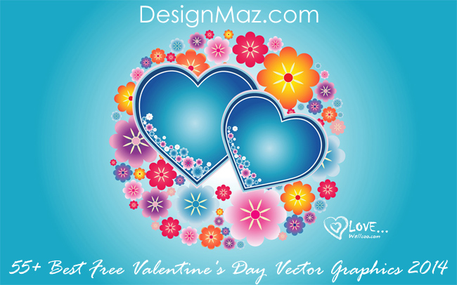 55+ Best Free Valentine's Day Vector Graphics 2014