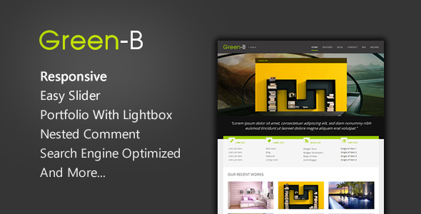 greenb-reponsive-blogger-template
