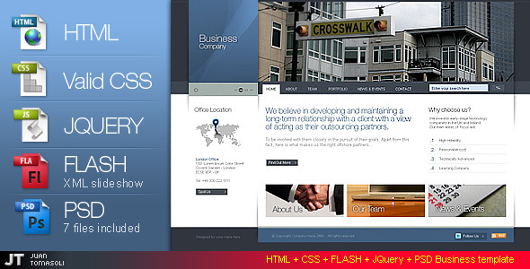 html-css-flash-psd-business-template-version