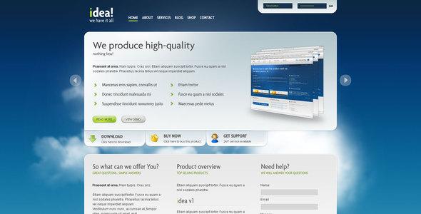 idea Business Shop Blog Template