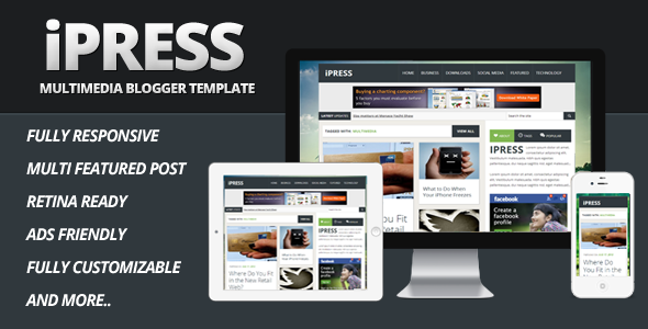 ipress-multimedia-blogger-template