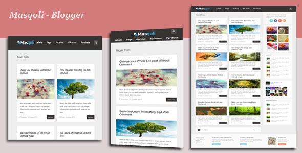 masqoli-responsive-blogger-template