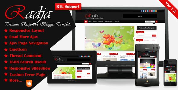 radja-responsive-blogger-template