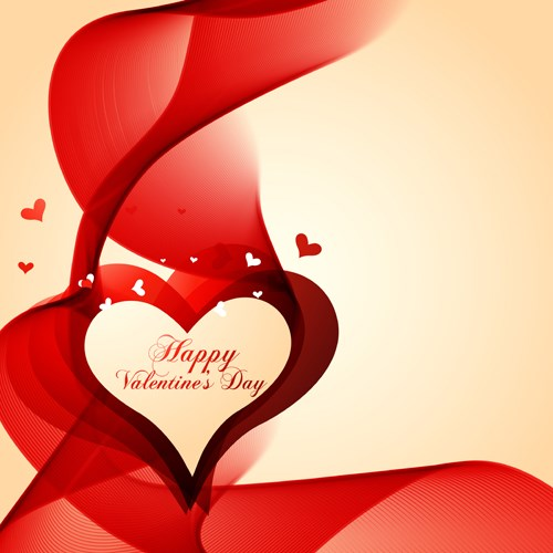 beautiful red heart vector design artwork