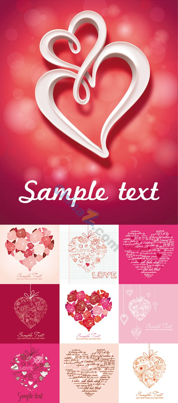 romantic-heart-shaped-pattern-background-vector