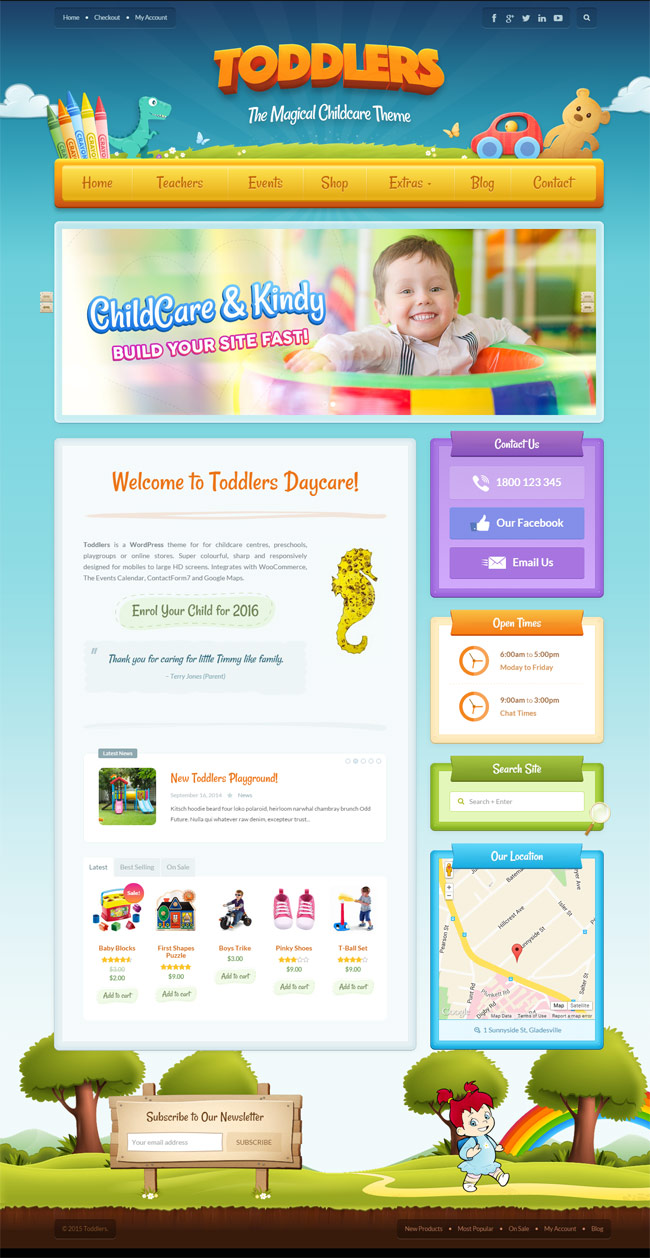 25 best kid u0027s wordpress themes for kindergarten and elementary