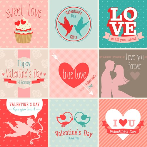 valentine-card-vector-set