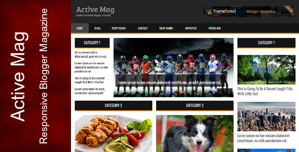 Active Mag - Responsive Blogger Template